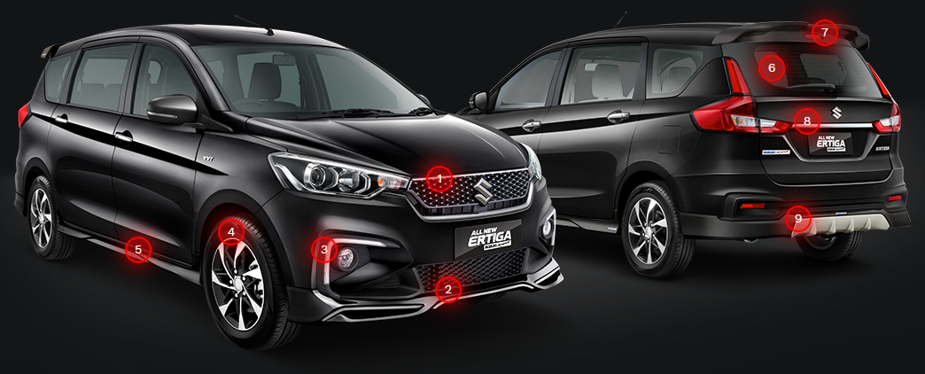 Exterior All New Ertiga Suzuki Sport